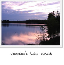 Sunset at Johnson's Lake